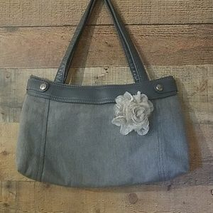 Thirty-one Gray Shoulder Bag with Removable Skirt